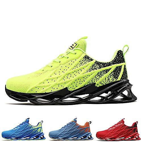 Zapatillas Running Hombre Tenis de Deportivas Casual para Correr Gimnasio Bambas Green 40 EU