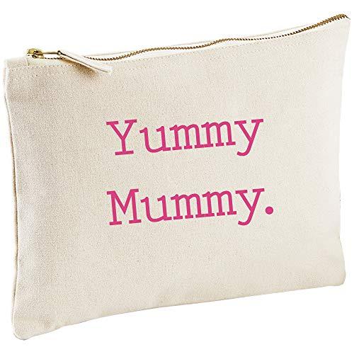 Yummy Mummy Toile naturelle Make Up Sac cadeau Idée de cadeau Trousse de toilette Cadeau Maman fête des mères anniversaire Noël