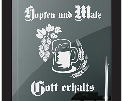 DD Dotzler Design 2111-5 Milchglas Folie Fenster Glas Tür Motiv Fensterfolie Hopfen und Malz Gott erhalts
