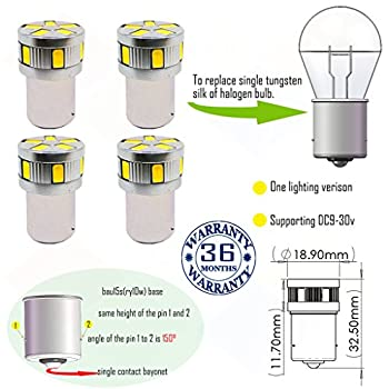 Wiseshine ry10w py21w 7507 5009 1156py s25 canbus turn signal led bulb DC9-30v 3 years quality assurance  pack of 4  bau15s 11smd 5630 Yellow