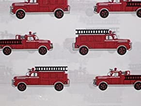 authentic kids fire truck bedding
