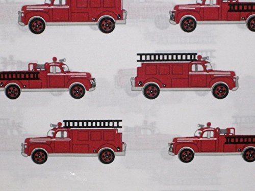 Authentic Kids Vintage Fire Truck Sheet Set, Full Size