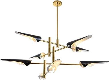 Chandelier, Post-Modern Personality Creative Beveled Chandelier, Living Room Dining Room Study Bedroom Showroom Lamp