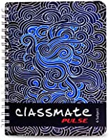 Classmate Pulse 6 Subject Notebook - Unruled, 300 Pages, Spiral Binding, 240mm*180mm