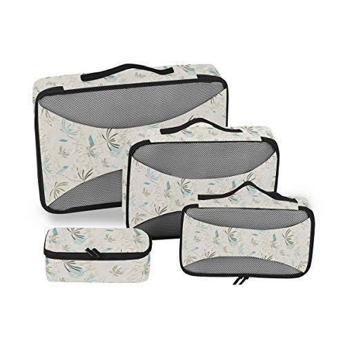 Tuin Kunst 4 stks Grote Reizen Toilettas voor Vrouwen Grote Wassen Tassen Haardroger Case Multi-gebruik Toiletten Kit Cosmetica Make-up Badkamer Organizer Koffer Bagage