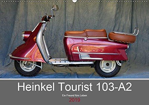 Heinkel Tourist 103-A2 Ein Freund fürs Leben (Wandkalender 2019 DIN A2 quer): Ein deutscher Motorroller mit großer Geschichte (Monatskalender, 14 Seiten ) (CALVENDO Mobilitaet)