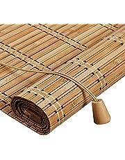 Roller blind Stores à Enroulement en Bambou Rétro,Naturel Respirant Rideau en Bambou,Store Venitien Bois,Store Fenetre Occultant,Rouleaux Romains pour Balcon/Jardin/Intérieur/Extérieur