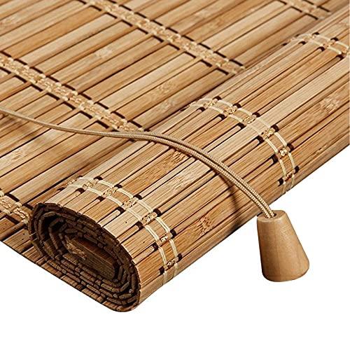 Persiana Bambu Exterior- Persiana Enrollable - Persianas de Madera,Estor Enrollable de Bambú Filtrado de Luz,Cortina Decorativa Anti-UV a Prueba de Polvo para Interior/Exterior (100x180cm/39x71in)