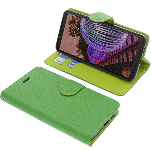 foto-kontor Tasche für JVC J20 Book Style grün Schutz Hülle Buch