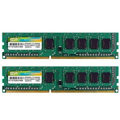 シリコンパワー デスクトップPC用メモリ 1.35V (低電圧) DDR3L-1600 PC3L-12800 8GB×2枚 240Pin Mac 対応 ...