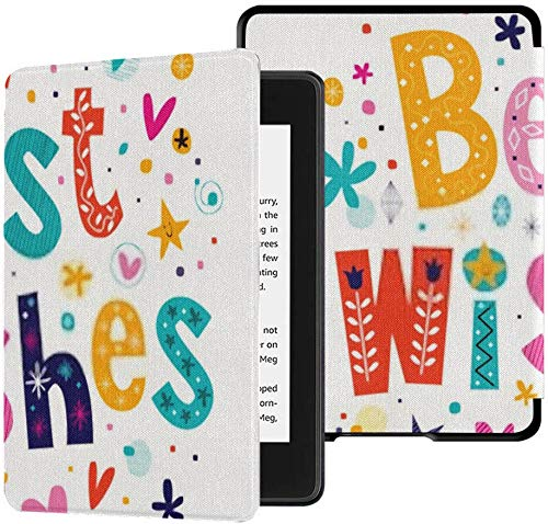 All-new Kindle Paperwhite Water-safe Fabric Cover(10th Generation, 2018 Release), Best Wishes Tablet Case