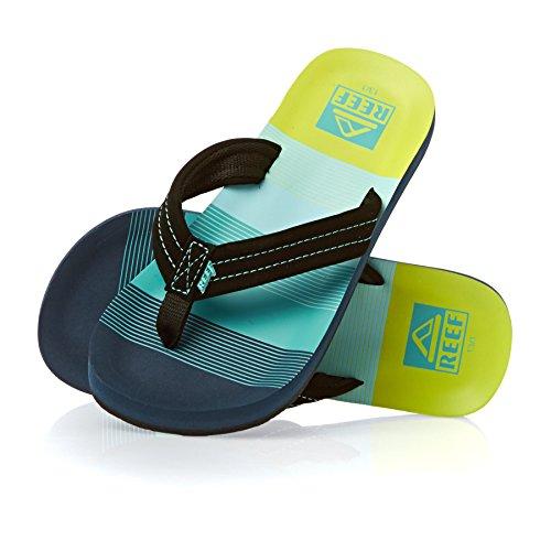 Reef Boys' RF002345 Sandal, Aqua/Green, 11/12 M US Little Kid