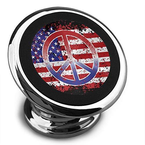 Magnetische Telefoonhouder Amerikaanse Vlag Vrede Teken Auto Telefoon Houders Voor Auto Met Een Super Sterke Magneet