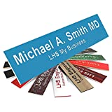 LHS My Business | Engraved Name Plates for Door Sign Personalized Light Blue Plastic Plaque with White Letters | 2x6 - B1