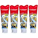 4-Pack Colgate Kids Toothpaste with Anticavity Fluoride, Minions