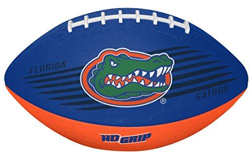 Rawlings NCAA Downfield Youth Size Football with 5X HD Grip, Florida Gators