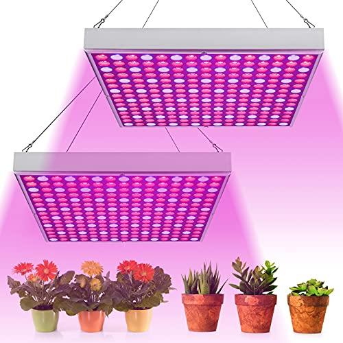 wolketon 2 Stück LED Pflanzenlampe 45W Pflanzenleuchte Pflanzenlicht Grow Lampe Rot Blau Licht 225 LEDs Wuchslampen für Blumen und Gemüse Pflanzen