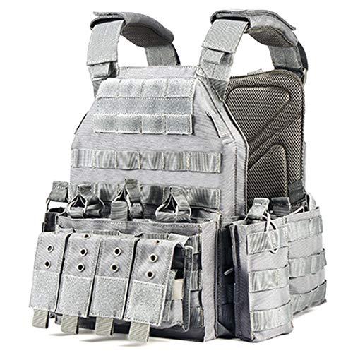 MAJOZ0 Chaleco táctico, armadura de cuerpo de nailon 1000D, chaleco táctico para Airsoft Paintball CS Wargame caza, deportes al aire libre