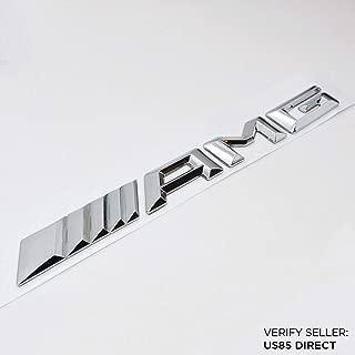 New Style Mercedes-Benz AMG Emblem 3D ABS Black Trunk Logo Badge Decoration Gift (Chrome)