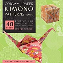 """Origami Paper - Kimono Patterns - Large 8 1/4"""" - 48 Sheets: Tuttle Origami Paper: High-Quality Double-Sided Origami Sheets..."""