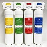 Set completo filtro 4 stadi depuratore acqua con set cartucce per 1 anno