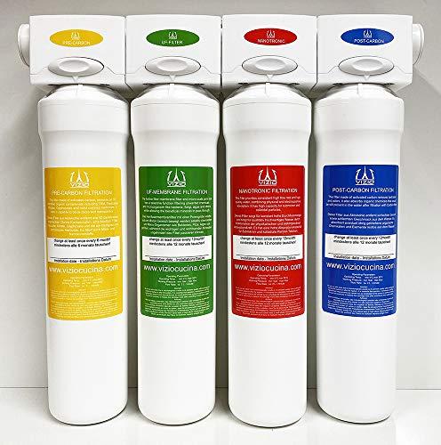 Trinkwasserfilter, Wasserfilter system, Hauswasserfilter 4 stadien Filtersystem - für 1 Jahr Trinkwasser