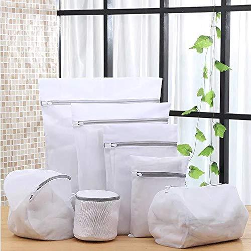 Wäschenetz Set (7 Teile) mit Reißverschluss für Waschmaschine und Trockner, Wäschenetze Feinmaschig, Wäschesack Faltbar, Waschsäcke ideal für Kleidung, Unterwäsche und Socken wäschenetz unterwäsche.