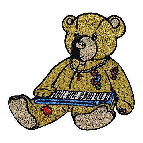 Finally Home Rock Teddy am Keyboard Patch zum Aufbügeln | Musik Patches, Rock & Roll Bügelflicken, Teddybär Flicken, Bär Aufnäher
