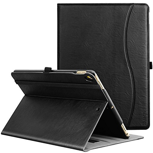ZtotopCase Case for iPad Air 10.5' 2019 (3rd Generation) & iPad Pro 10.5 2017,PU Leather Business Folio Cover,with Stand,Pocket and Auto Wake/Sleep Function,Multi-angle,Black