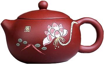 Yixing słynny ręcznie robiony fioletowy gliniany garnek rudy Zhuni Dahongpao malowany lotos Xishi garnek pojedynczy dzbane...