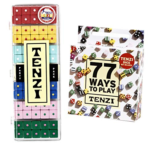 TENZI Party Pack Dice Game Bundle with 77 Ways to Play TENZI - A Fun, Fast Frenzy for The Whole Family - 6 Sets of 10 Colored Dice - Colors May Vary