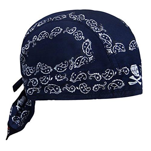 FakeFace Kopftuch für Damen Herren Bandana Cap Hut Sport Kopfbedeckung Piratenmütze Hip Hop Cap Stirnband aus atmungsaktive Baumwolle(Dunkelblau)