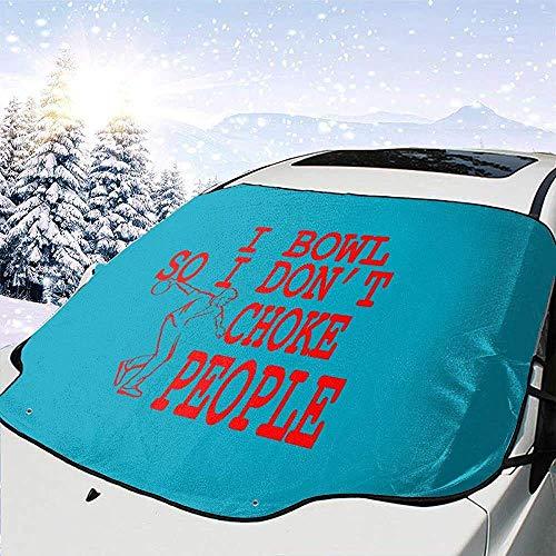 GOSMAO Cubierta de Nieve para Parabrisas de Equipo de Bolos, Parasol de Parabrisas de Coche, Cubierta de Hielo, 147x118cm