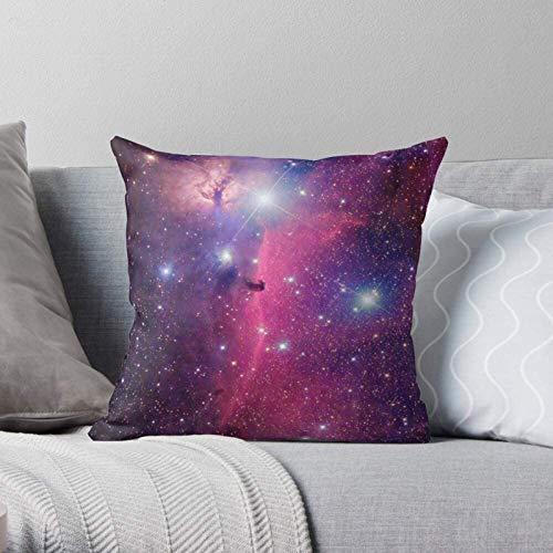 BONRI Estuche de exploración de Estrellas espaciales moradas de la NASA Estrella Negra, Moderno, Decorativo y Ligero, de poliéster Suave, Fundas de Almohada para Dormitorio/Sala de Estar / ,18''×18''