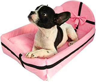 Dog Cat Bed Indoor, Cute Plush Cushion Pet House, Pet Kennel Removable Mattress, Cat Bed, Waterproof Anti-Slip Bottom Dog ...