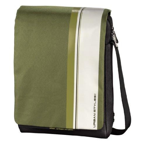 aha: Hyde Messenger Tasche für Netbook/Tablet-PC grün/weiß