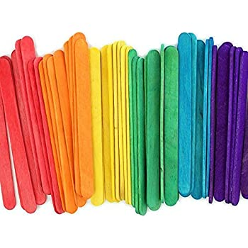 """4.5"""" Colored Wooden Craft Sticks - Pack of 500ct"""