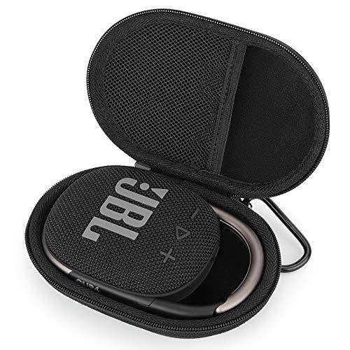 Tasche Hülle für JBL Clip 4 Wasserdichter kabelloser Bluetooth-Lautsprecher, Hart Aufbewahrungstasche Etui Case (Black)