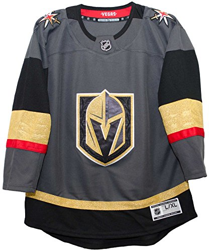 Outerstuff Vegas Golden Knights Youth Premier Home Jersey (Youth l/XL 18-20)