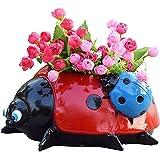 Gardening Pots, Planters & Accessories,Garden Pots Metal Ladybug...