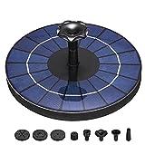 Fuente Solar Bomba 3.5W Fuente de Jardín Solar Panel Solar Flotante de Batería Incorporada de 1500mAH con 6 Boquillas Muy Adecuado para Fuente, Piscina, Estanque, decoración de jardín