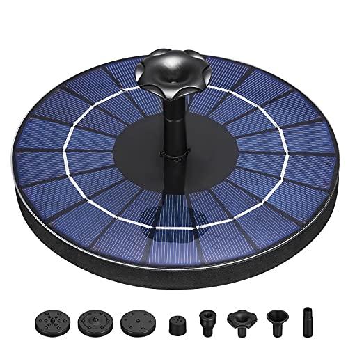 Fuente Solar Bomba 3.5W Fuente de Jardín Solar Panel Solar Flotante de...
