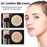 Cojín de aire BB Cream Mushroom Head,Bloomma 2019 Nuevo Cojín de aire Mushrooms Head Cream + Esponja de champiñones, bloqueo de la radiación UV
