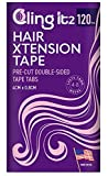 Double Sided Hair Extension Replacement Tape, for Tape in Hair Extensions - 120 Tabs - Made in The USA