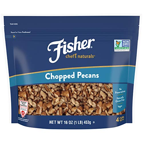 Fisher Chef's Naturals Chopped Pecans, 16 Ounces, Unsalted, Naturally...