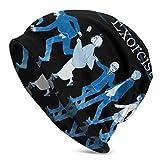 Ahdyr Blue Exorcist Logo Anime Style Knit Hat Unisex Beanie Skull Cap Gorro de Invierno cálido Ligero y Transpirable