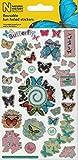Paper Projects 01.70.06.080 Pegatinas reutilizables de museo de historia natural, 19,5 cm x 9,5 cm