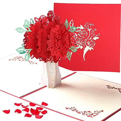 3D Karte,Weihnachten Karten,Karte zum Valentinstag, 3D Pop-Up-Grußkarte mit schönen Papier-Cut, beste Geschenk für den Geburtstag oder Jahrestag des Liebhabers (Cupid)