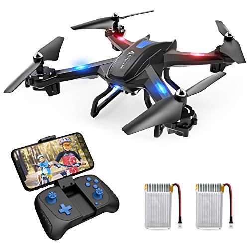 SNAPTAIN S5C drone met camera HD 720P live overdracht WiFi FPV RC Quadrocopter spraakbesturing Gravitatiesensor vluchtbaan koploze modus hoogtebehoud 3D flips noodlanding RC drone voor beginners