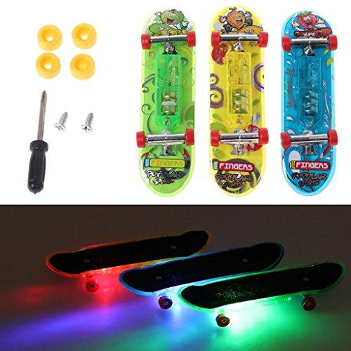 WuLi77 Mini-Skateboard mit LED-Beleuchtung, 2 Stück